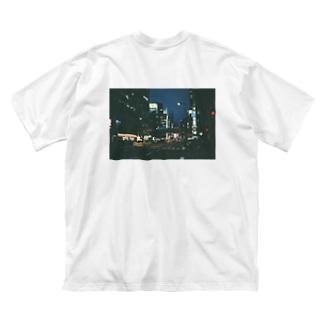 夜に駈ける Big silhouette T-shirts