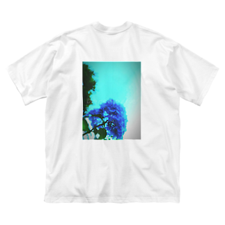 MOMOCHEの君色に(Dye me in your hue.) Big silhouette T-shirts
