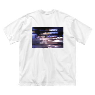 ゆるい青の青_3 Big silhouette T-shirts