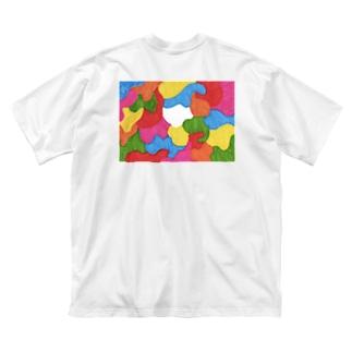コロナ未来 Big silhouette T-shirts