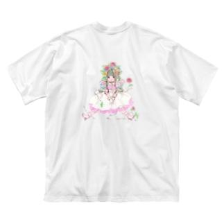 kaeruco(* 皿 *)の花と共生と寄生と Big silhouette T-shirts