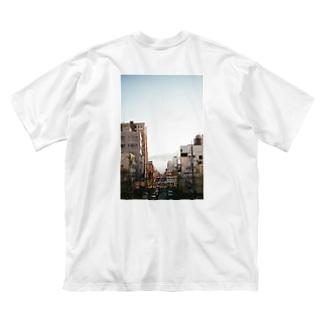 歩道橋からダイブ バックプリント Big silhouette T-shirts