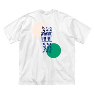 サワークリームソーダ Big silhouette T-shirts