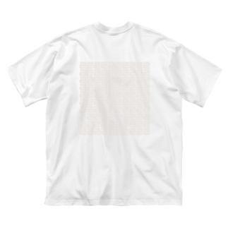 100個のS? Big silhouette T-shirts