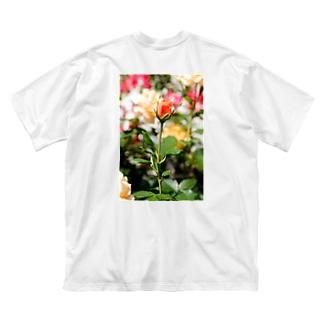 FLOWERS-蕾- Big silhouette T-shirts