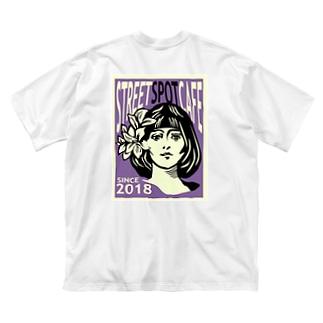 STREETSPOTCAFE 001号 purple Big silhouette T-shirts