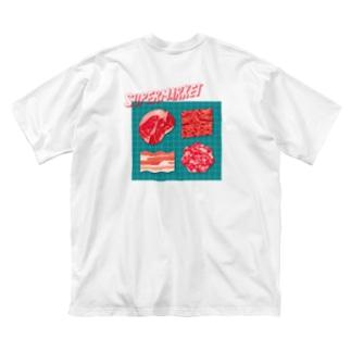 スーパーマーケット:肉 Big silhouette T-shirts