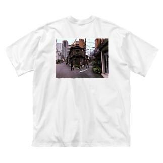 別れ道Tシャツ Big silhouette T-shirts
