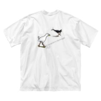 幸せの「白いシロハラクイナ」? Big silhouette T-shirts