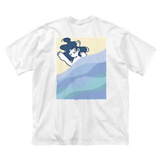 すやすや Big silhouette T-shirts