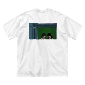 プリクラちゃん Big silhouette T-shirts
