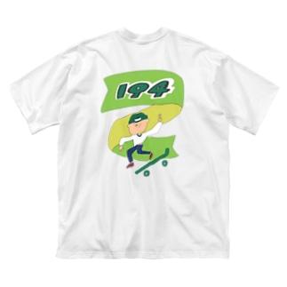 194くん Big silhouette T-shirts