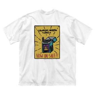 タバコのチラシ (両面印刷) Big silhouette T-shirts