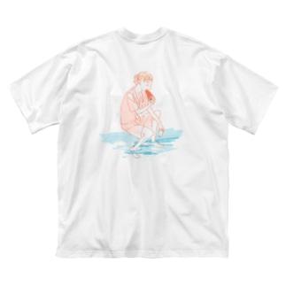 スイカ(バックプリント) Big silhouette T-shirts