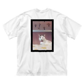 素敵な左目の猫。 Big silhouette T-shirts