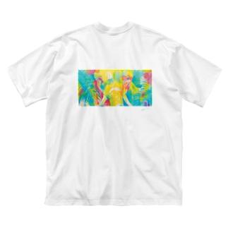 あなたと見つめ合う Big silhouette T-shirts