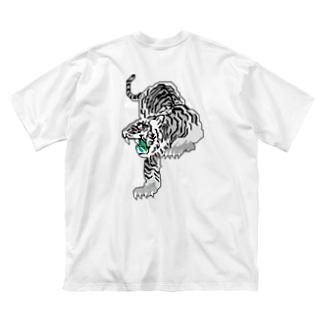 Tokiwa brosの白虎 Big silhouette T-shirts