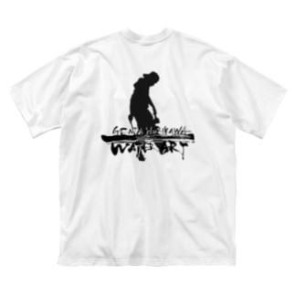 ロゴ字(前/黒)ロゴ(後/黒) Big silhouette T-shirts