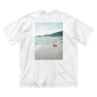 置き去りの夏 バックプリント Big silhouette T-shirts