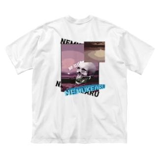 ねむけ星人[光] Big silhouette T-shirts