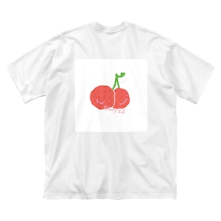 Cherry.Floriographyのcherry🍒 Big silhouette T-shirts