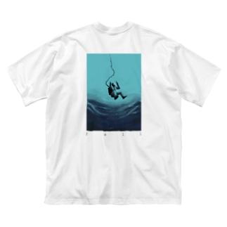回遊 Big silhouette T-shirts