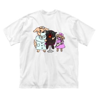 お注射ちっくん Big silhouette T-shirts