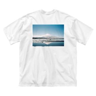 ふじさん Big silhouette T-shirts
