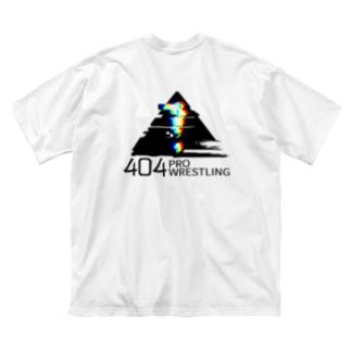 「404プロレス」ロゴ(背面) Big silhouette T-shirts