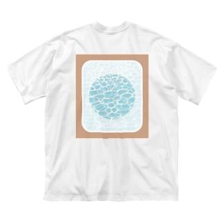 のぞき穴〜水面〜 Big silhouette T-shirts