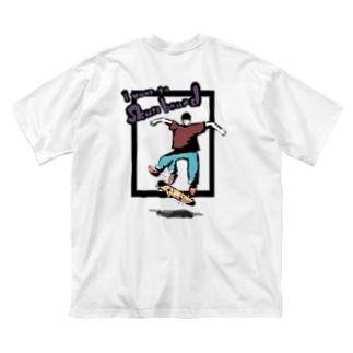 スケボーがしたいTシャツ Big silhouette T-shirts