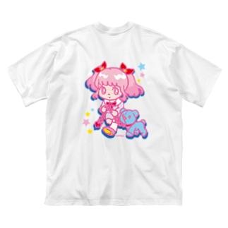 ONNANOKO【Pink】 Big silhouette T-shirts