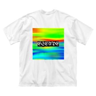 タスケテ Big silhouette T-shirts