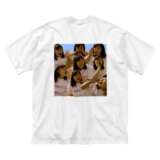 陽気で活発な女 Big silhouette T-shirts