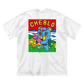 SAKEKUMA Big silhouette T-shirts