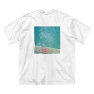 POOLであそびたい(ワンポイント・背面プリント) Big silhouette T-shirts