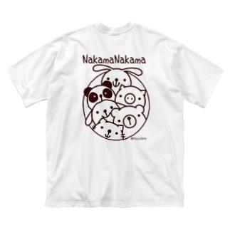 Piyocoloreの仲間ナカマ Big silhouette T-shirts
