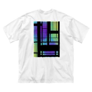都市の喧騒 Big silhouette T-shirts