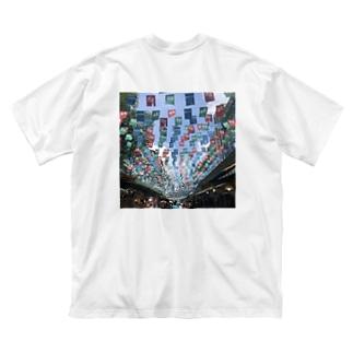 ここってあそこ? Big silhouette T-shirts