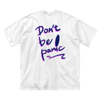 Don't be panic  Big silhouette T-shirts