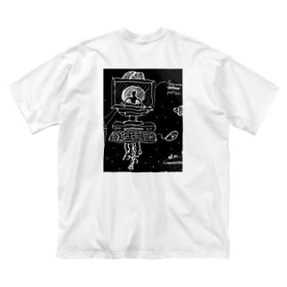 German Police(完全落書きver) Big silhouette T-shirts