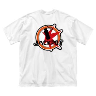 背面ロゴ(JACKPOT) Big silhouette T-shirts