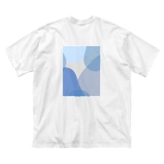 poqpoqのちびたい Big silhouette T-shirts