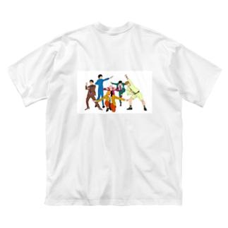 BoogerPickの6人 Big silhouette T-shirts