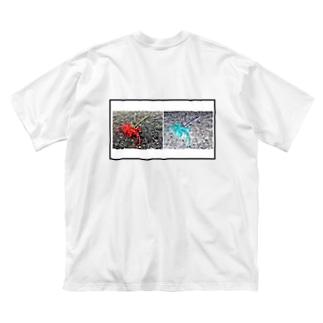 ヒガンバナ Big silhouette T-shirts