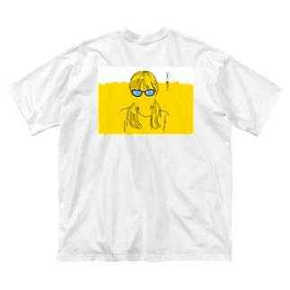 ビール娘 Big silhouette T-shirts