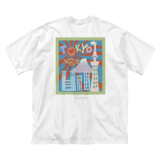 The city of Tokyo  Big silhouette T-shirts