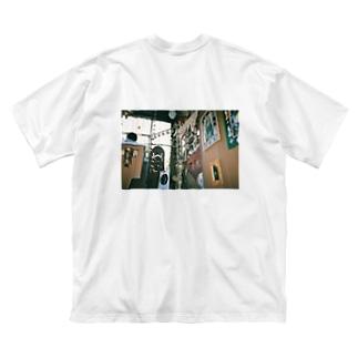 豆屋のインド料理屋 Big silhouette T-shirts