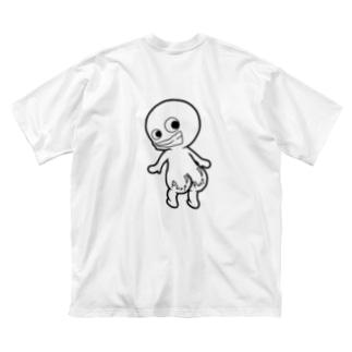 プリケツ君 Big silhouette T-shirts