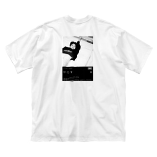 僕の欠伸 Big silhouette T-shirts